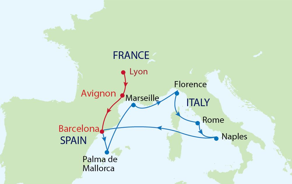 Du lịch Châu Âu - Ghé thăm Tây Ban Nha - Pháp - Ý cùng du thuyền Allure of the Seas