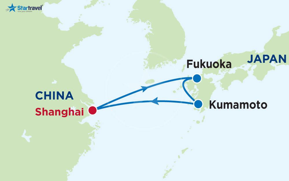 Tour Du thuyền 5 sao Spectrum of the Seas khám phá mùa hoa anh đào Trung - Nhật