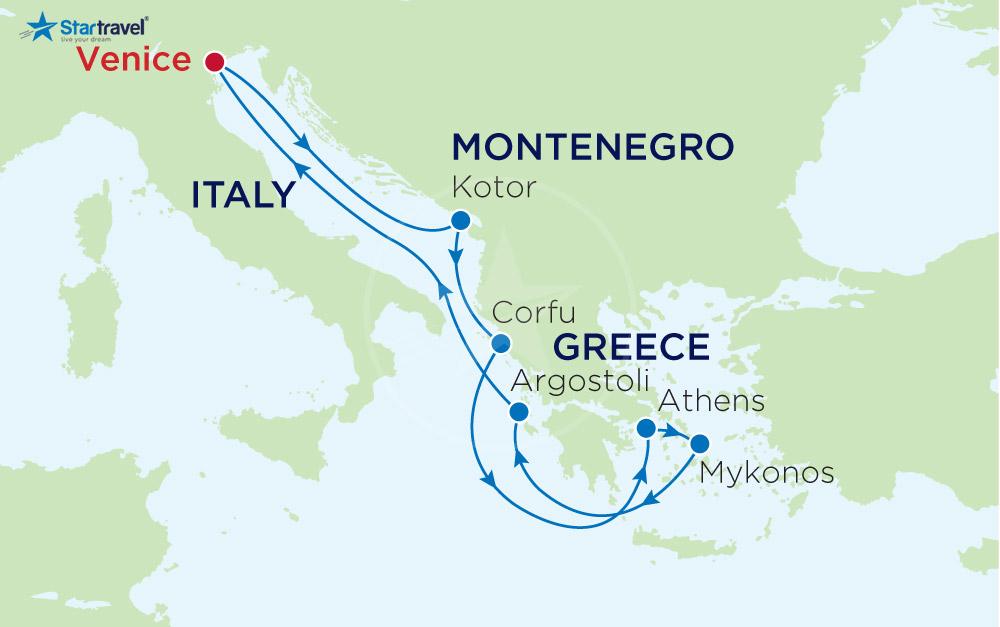 Khám phá Địa Trung Hải qua 3 nước xinh đẹp: Ý - MONTENEGRO - HY LẠP
