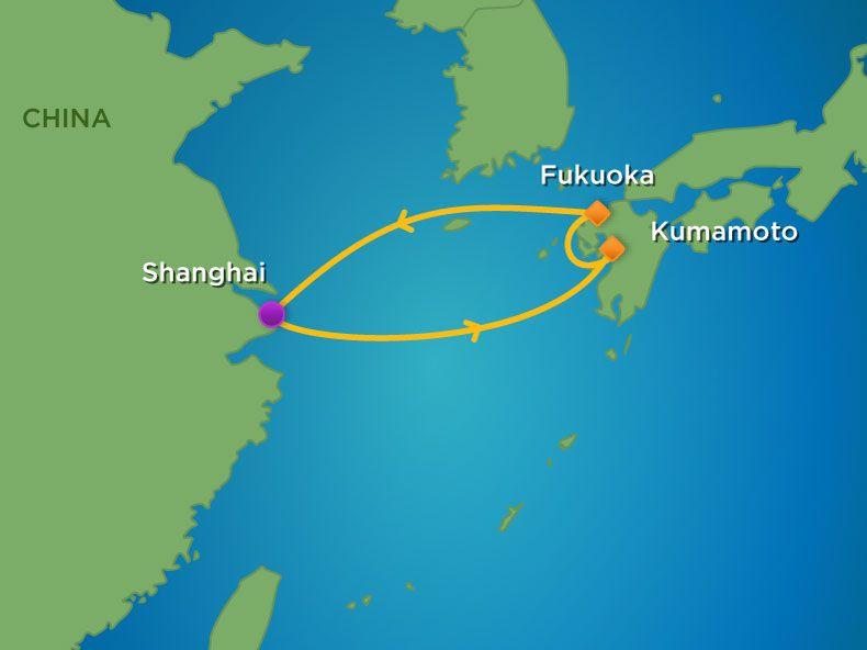 Siêu du thuyền 5 sao Spectrum of the seas khám phá Thượng Hải - Kagoshima - Kumamoto