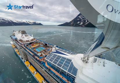 Đến Alaska ngắm cá voi nhảy múa trên du thuyền 5 sao Ovation of the Seas