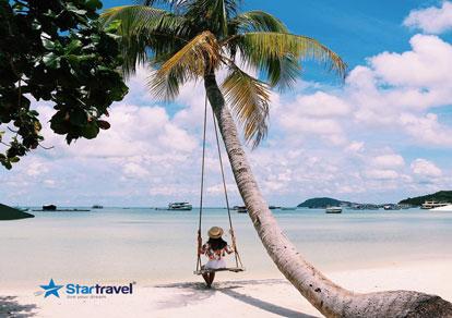 Phú Quốc - Hòn Thơm Nature Park - Tặng vé cáp treo 3 dây dài nhât thế giới - siêu khuyến mãi Vietnam Airlines