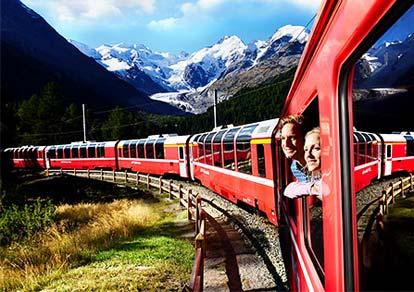 Khám phá đất nước Thụy Sĩ qua những chuyến tàu