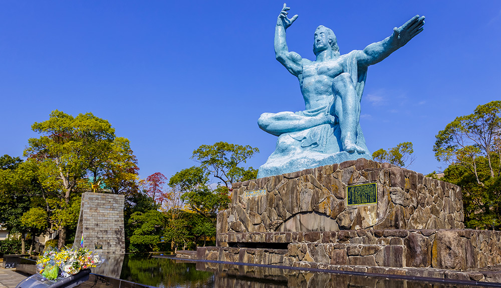 du thuyền biển tượng biểu tượng hòa bình nagasaki