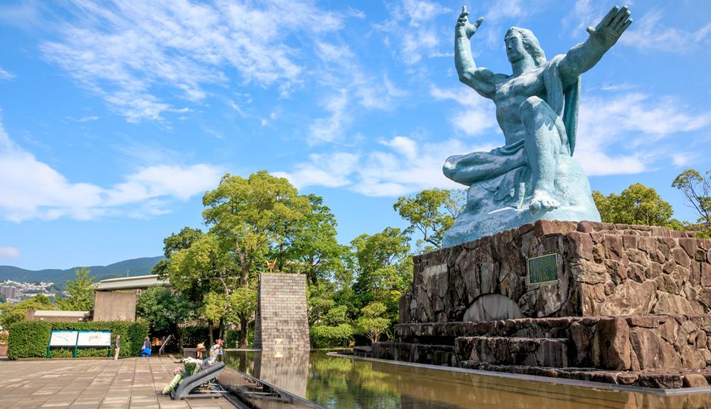 du thuyền biển đài tưởng niệm hòa bình nagasaki