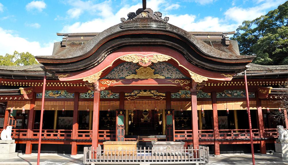 du thuyền biển đền dazaifu fukuoka