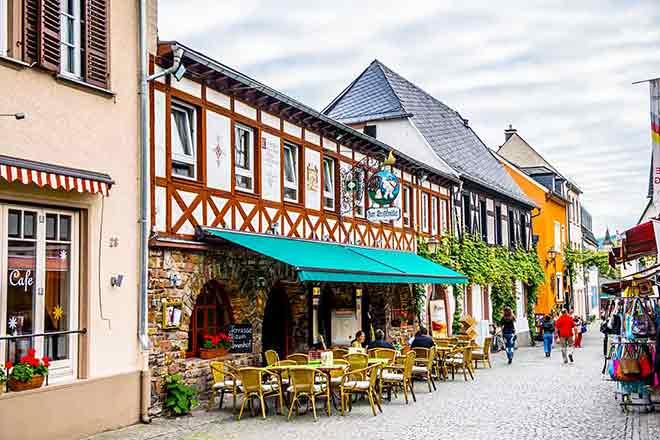 Con phố ở thị trấn Rudesheim