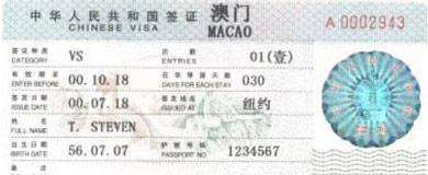 Bảng giá làm Visa đi Macau